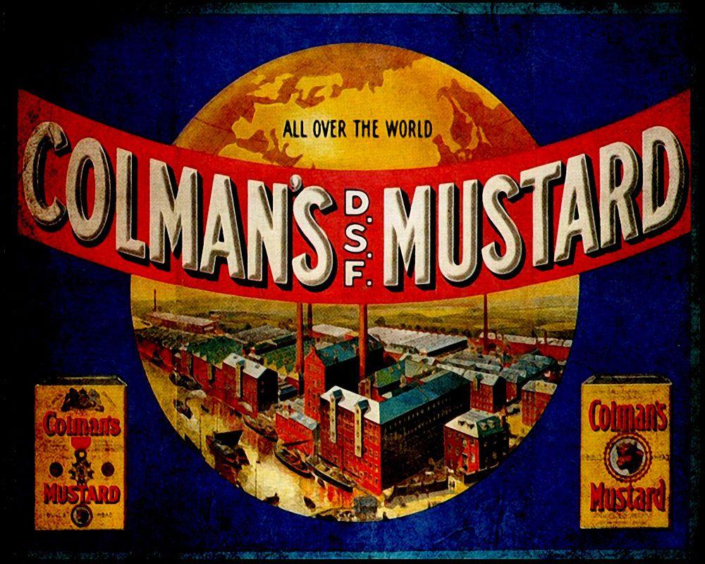 Colmans english mustard vintage advert art print poster