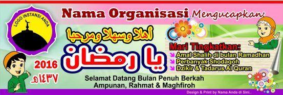 Banner Spanduk Anak Anak Kartun Menyambut Ramadhan