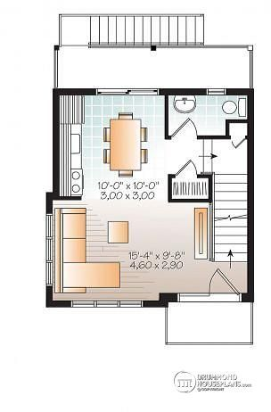 W1701 - Contemporary 3 floor house design for narrow lot, affordable - Plan De Maison Originale