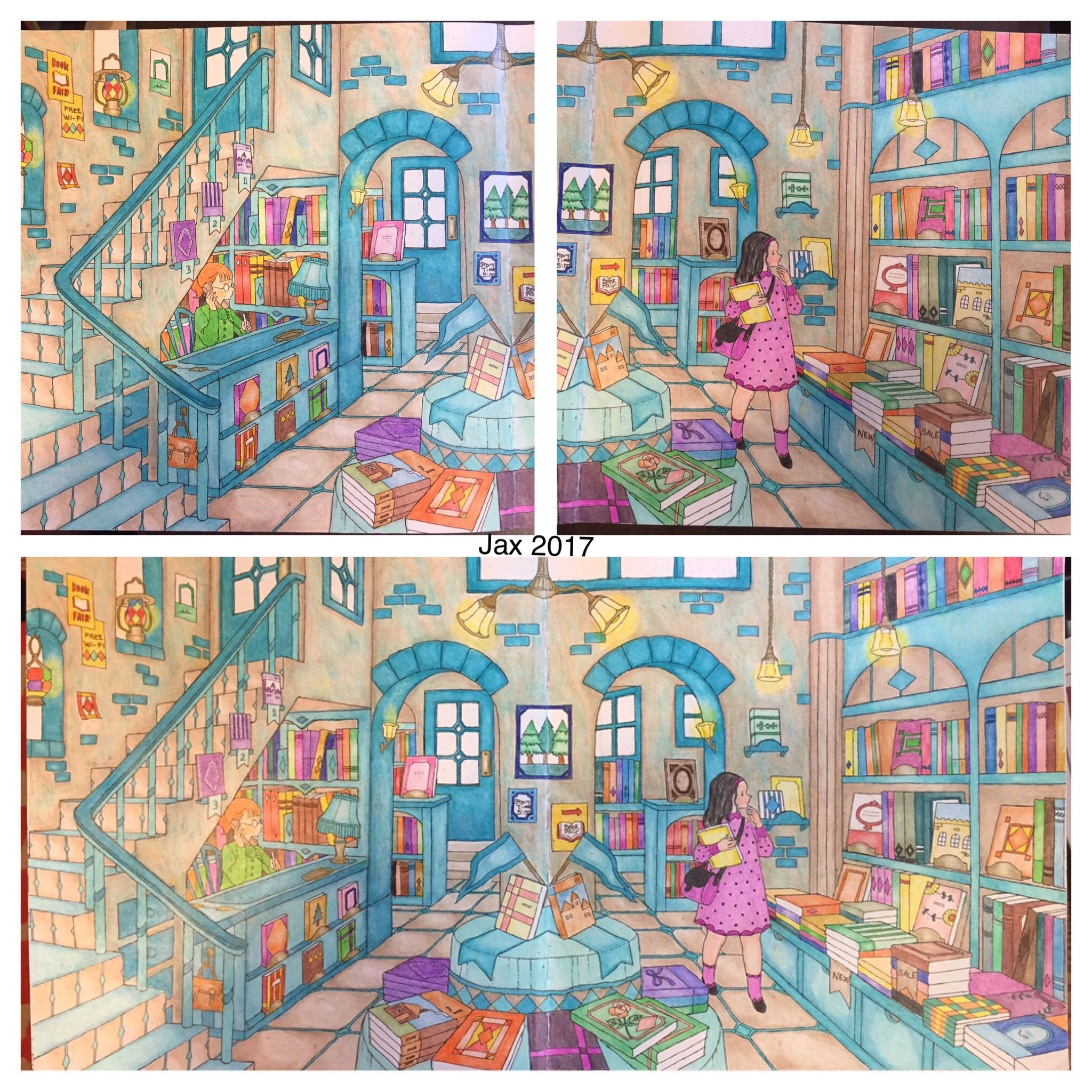 my colorful town by chiaki ida left page outside of library