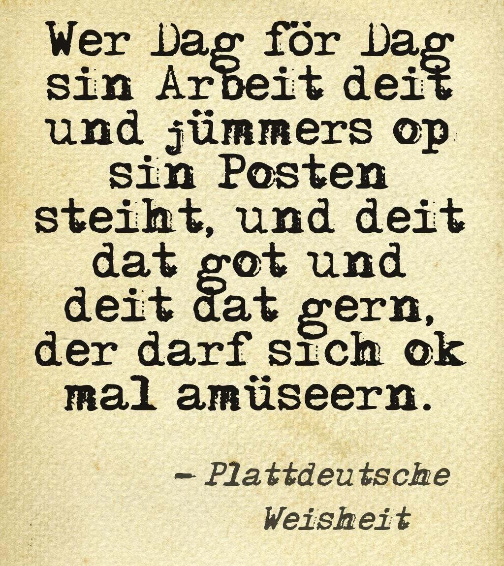 Plattdeutsch Text
