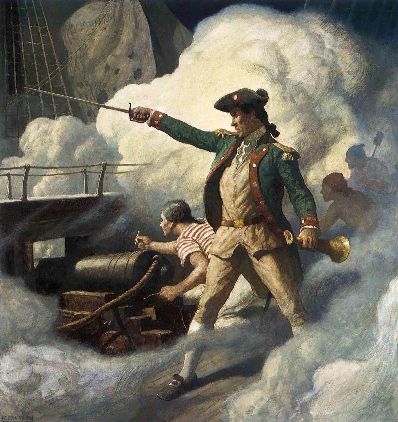 Painting of Captain John Paul Jones by N.C. Wyeth, 1938