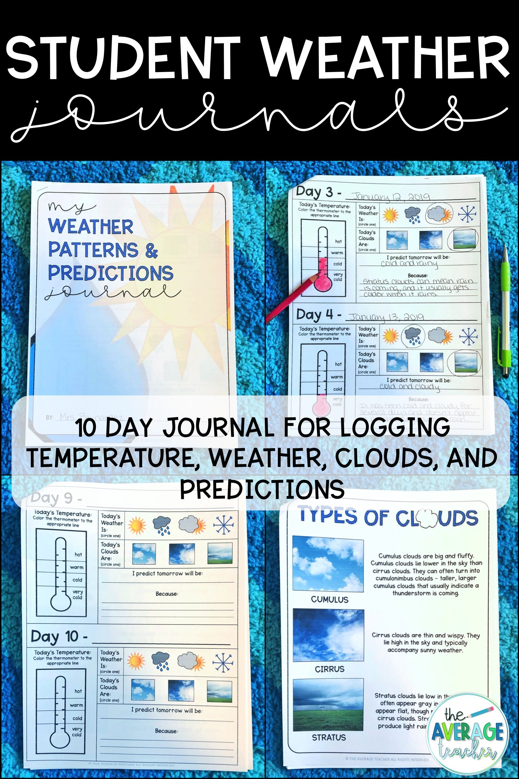 Weather Journal Tracking Weather Patterns And Making