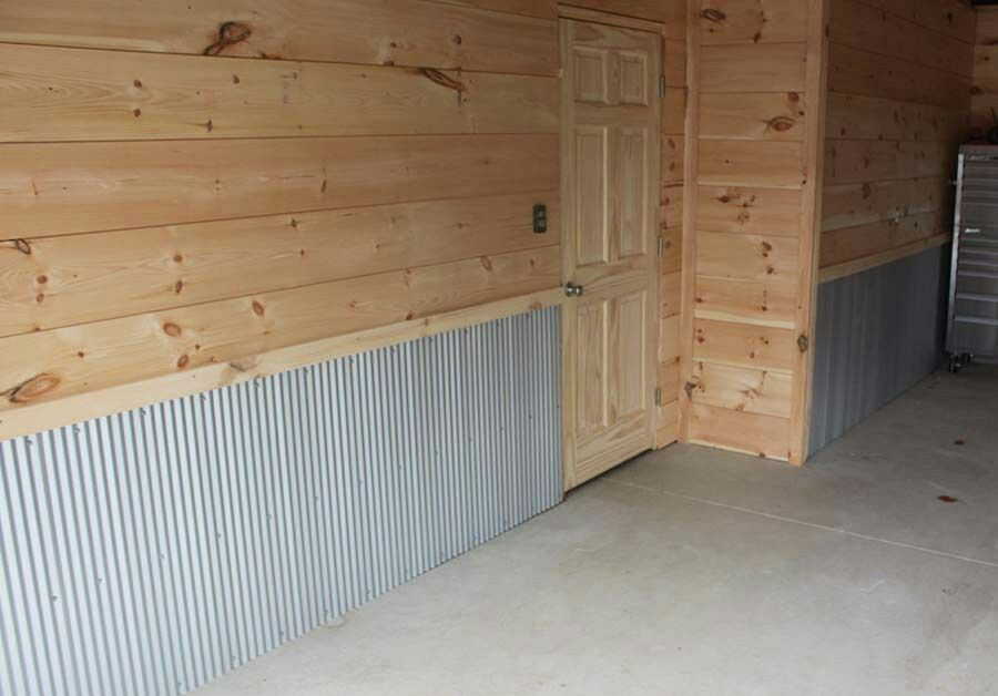 Shiplap Amp Corrugated Metal Walls From Old World Farms Site