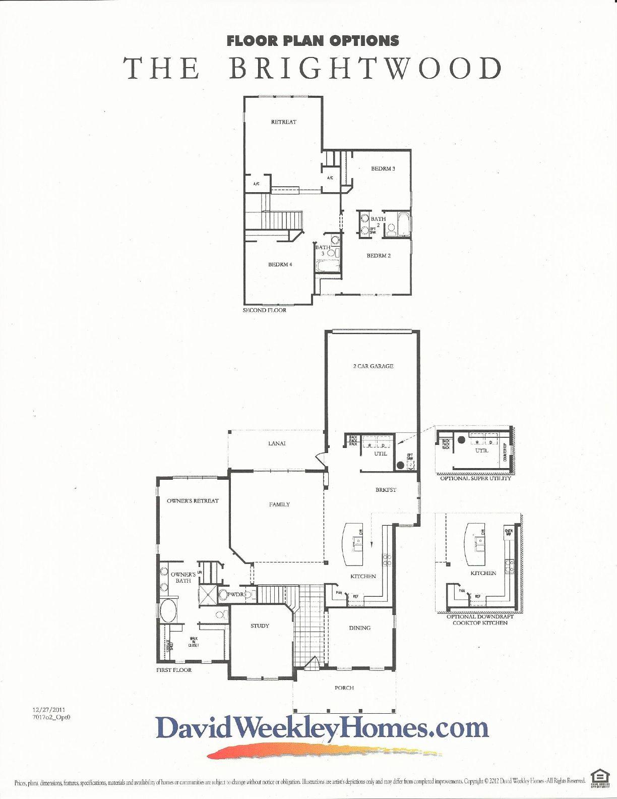 Oakland Park Brightwood Floor Plan #2 In WInter Garden FL