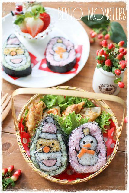 Weihnachts-Schneemann Bento