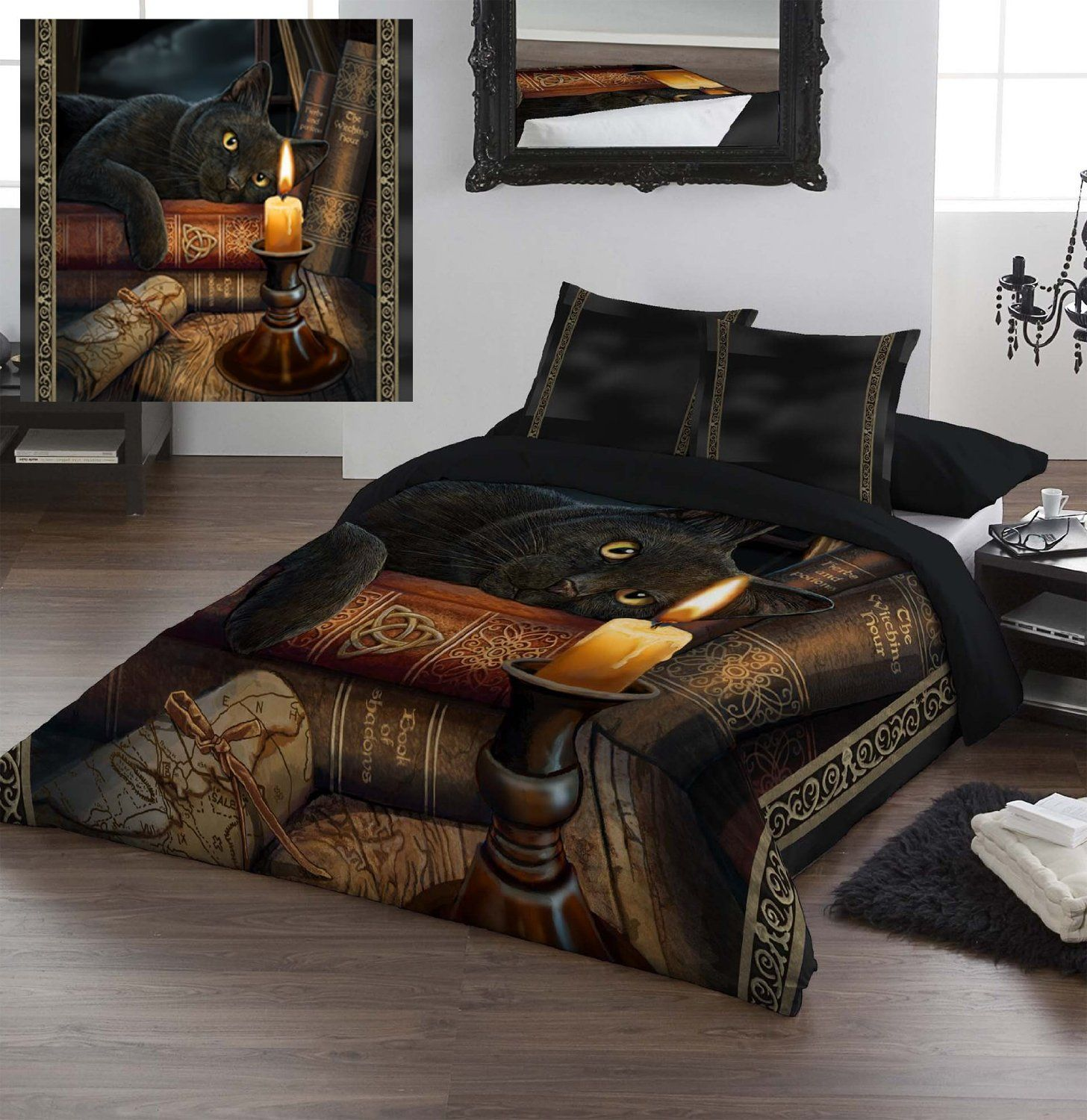 The Witching Hour By Lisa Parker Kingsize Bed Duvet Set Pagan Wiccan Goth