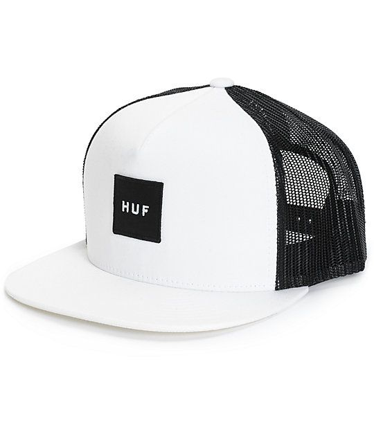 2f0a7c207e1 Add some clean style to your kit with this black and white trucker hat that  features