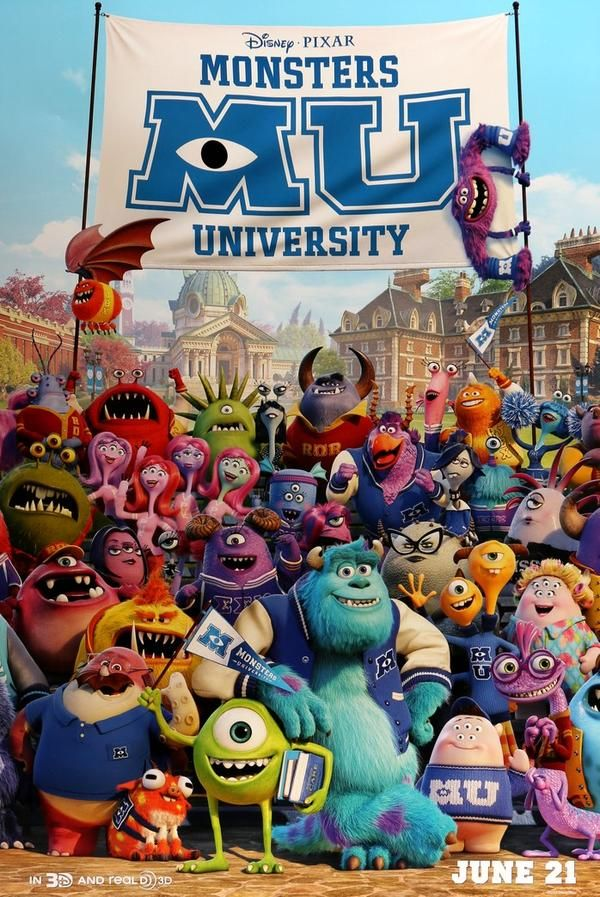 Monsters University (2013) Original One Sheet Movie Poster