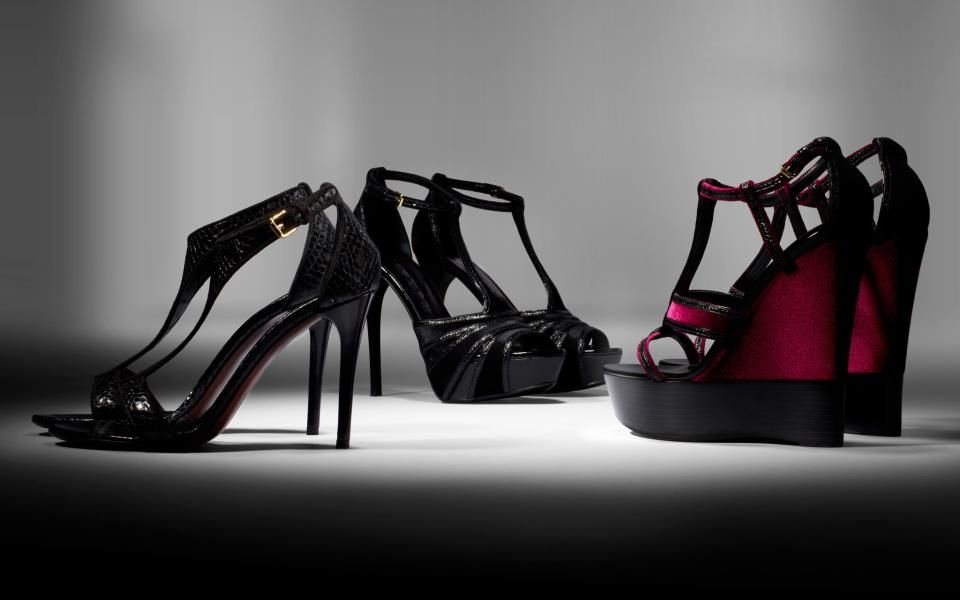 The Burberry Autumn Winter 2012 Accessories Collection. Velvet and Leather  Platform Sandals   Wedges. 7e4d27b7f7a8a