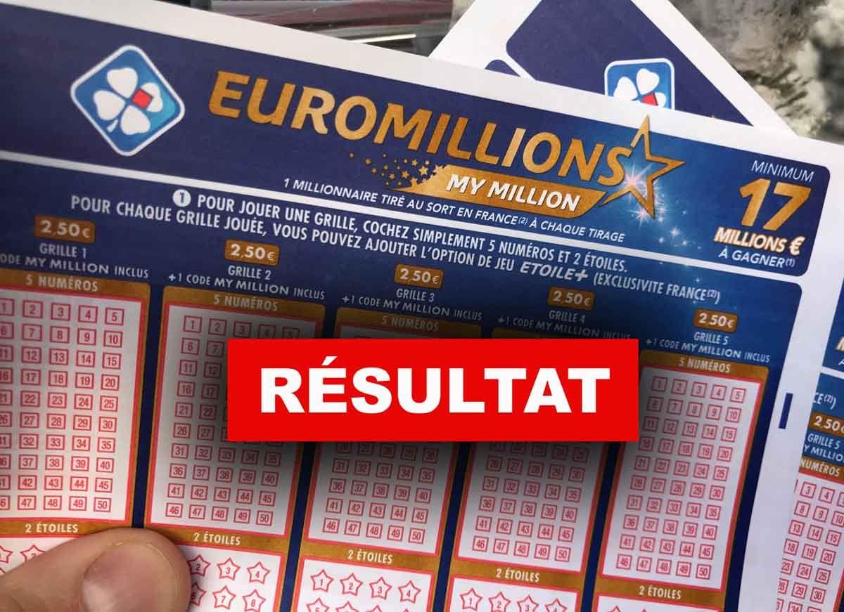 Tirage Euromillion 18 12 18 Millionnaire Mardi