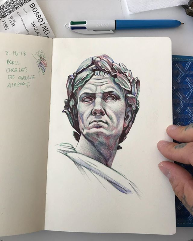 Julius Caesar: Back home from Paris, and feeling super inspired! Sketched this Julius Caesar at the Ch...