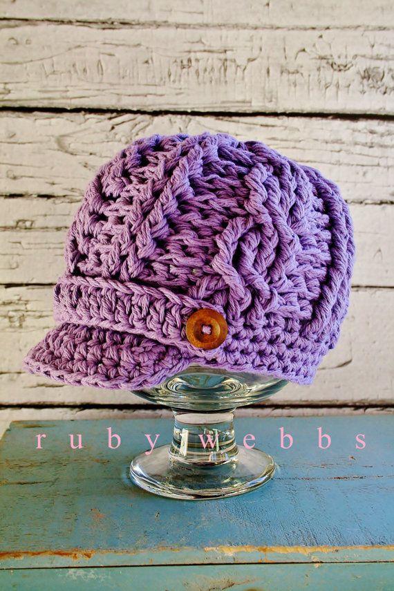 Girls Crochet Newsboy Hat Toddler Crochet Hat Cotton by rubywebbs ...