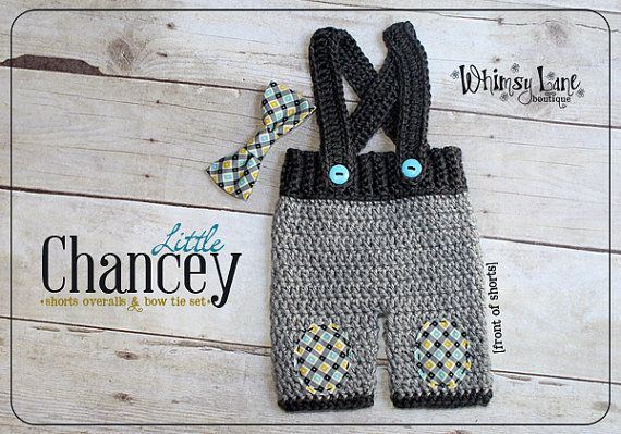 Newborn Suspender Shorts and Bow Tie Baby by whimsylaneboutique, $40.00