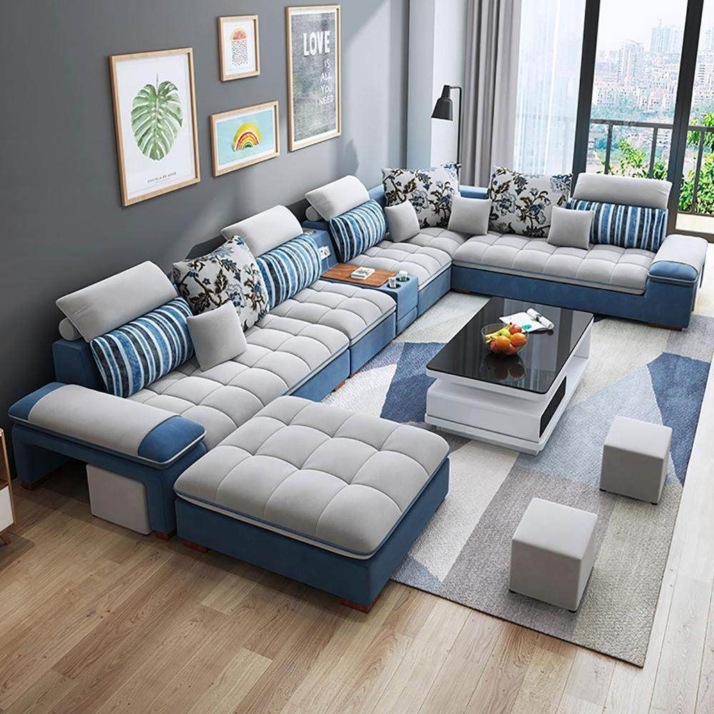 Customizable And Reconfigurable Deep Seating Couch Sectional Living Room Combination Sofa Set 7 Seater Corner Sofa Aliexpress High Quality Living Room Furniture Living Room Sofa Set Living Room Sofa Design