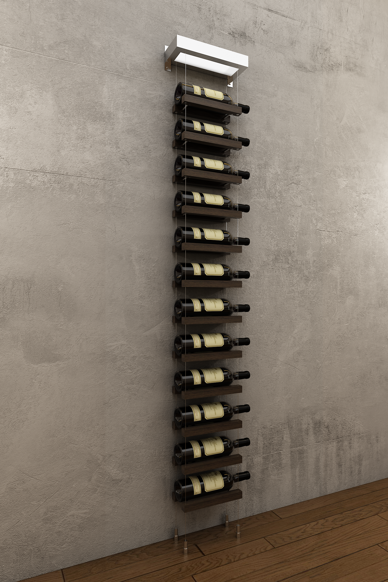 The New Wm12 Cr Wnut Is A 12 Bottles Wall Mounted Wine Rack And Is