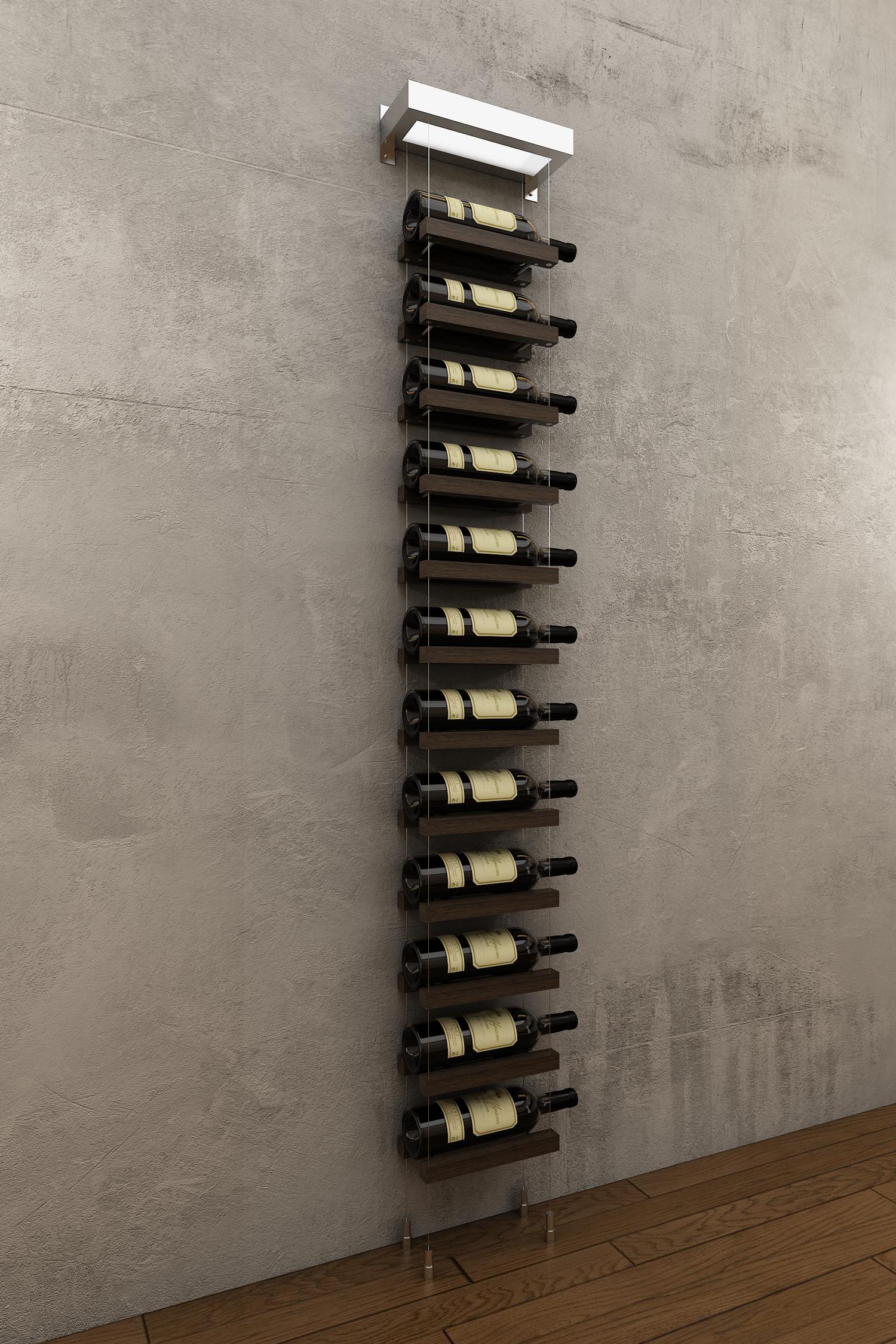 12 Bottles Buoyant Wall Mounted Wine Rack Modern Wine Rack Hanging Wine Rack Wall Mounted Wine Rack