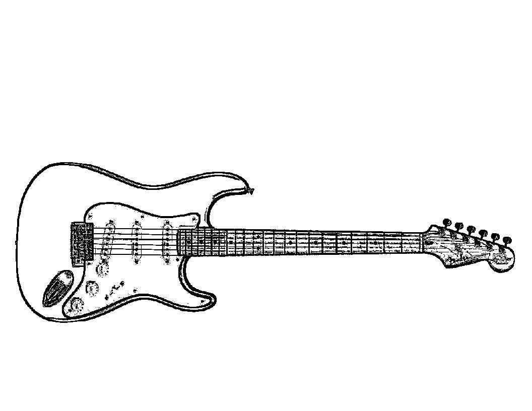 Magnífico Hoja Para Colorear De Guitarra Colección - Dibujos Para ...