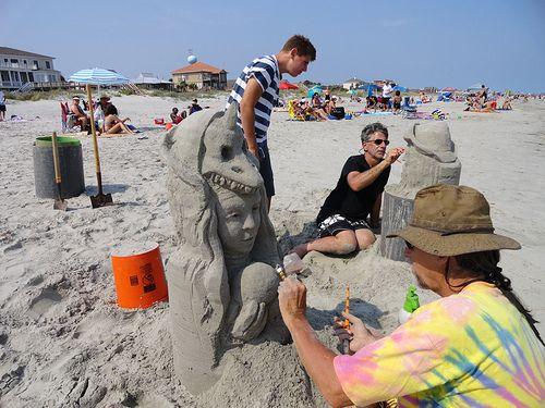 Sand castle art, Folly Beach, SC