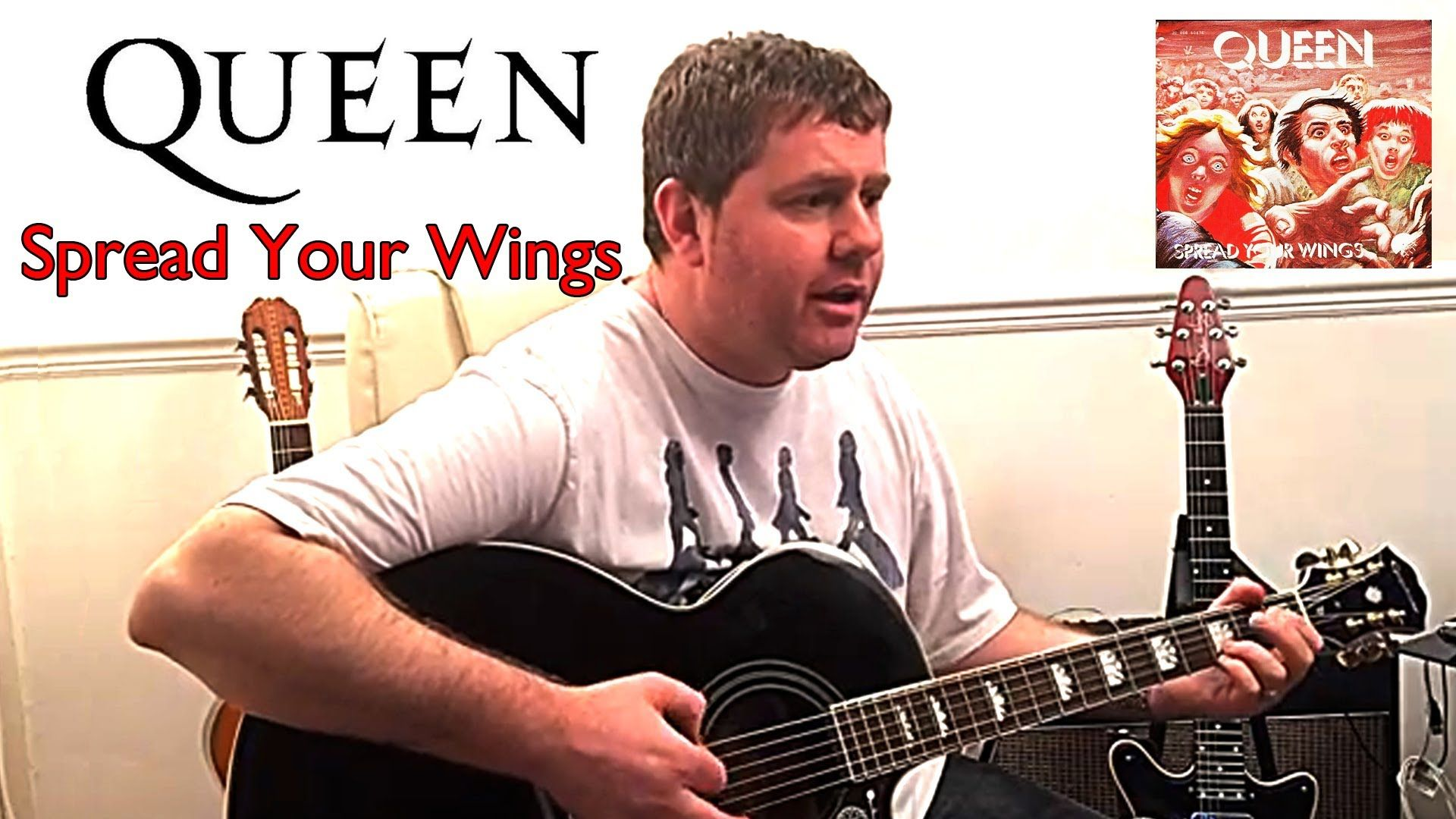 Queen Spread You Wings Acoustic Cover Queen Guitar Lessons