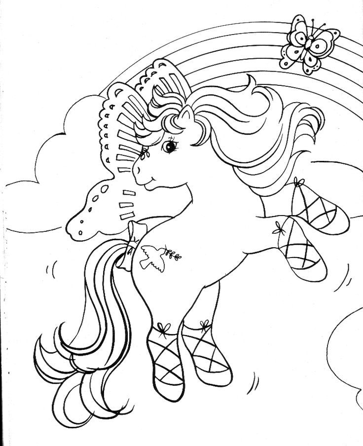 My Little Pony G1 Coloring Pages : My little pony g coloring pages mon petit poney