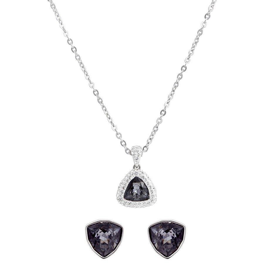 Xmas Fashion Jewelry Gift Heart Cut Aquamarine White Gold Gp Pendant Necklace