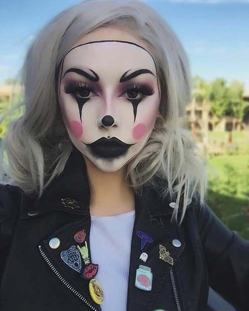 Creepy Clown Halloween Makeup #makeupideas