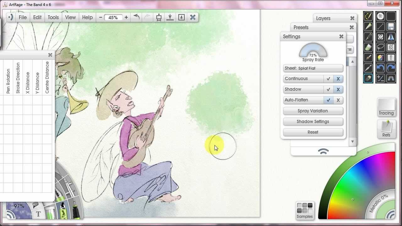 How To Paint With Watercolor In Artrage 7 Sticker Sprays Artrage Watercolor Paintings Artrage Tutorial