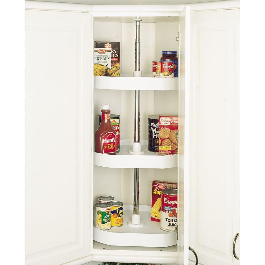 Best Rev A Shelf 3 Tier Plastic D Shape Cabinet Lazy Susan 640 x 480