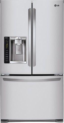 Lg 241 Cu Ft French Door Refrigerator With Thru The Door Ice