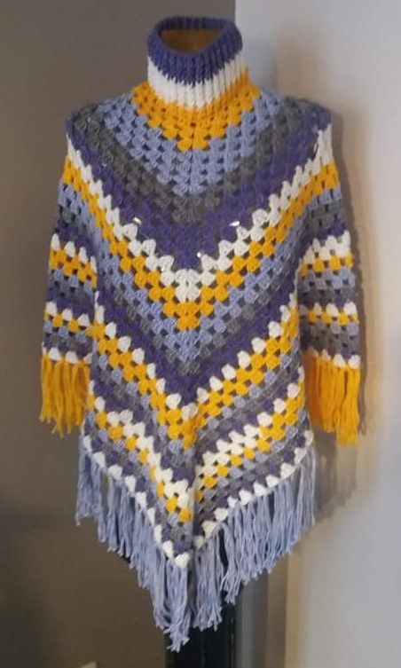 Easy Diy Crochet Poncho Patterns Crochet Poncho Pinterest