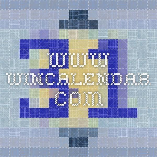 wwwwincalendar General teaching Pinterest School calendar