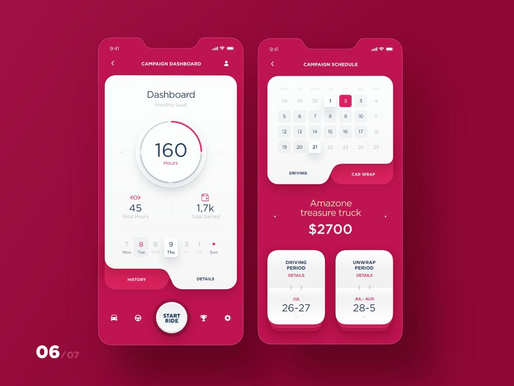 MAD - App Dashboard flow