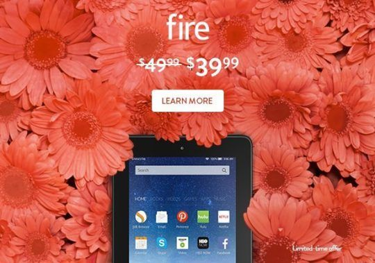 For Mother's Day 2016 Amazon offers Fire 7 for only $39.99! ($10 off)