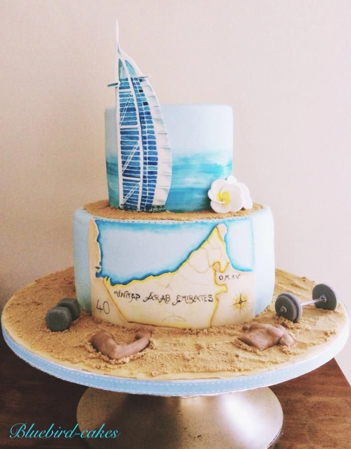 Dubai Themed Cake Cake By Zoe Smith Bluebird Cakes Cakes Cake