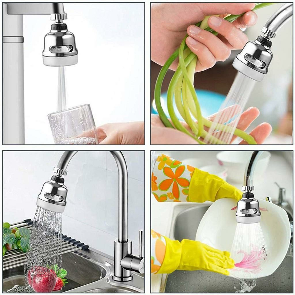 Rotatable Rotating Faucet Nozzle Splash Proof Water Filter Adapter