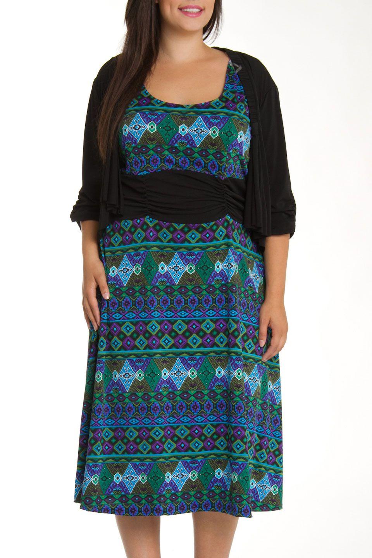 DJ Summers - Katelyn Dress Set in Purple and Green