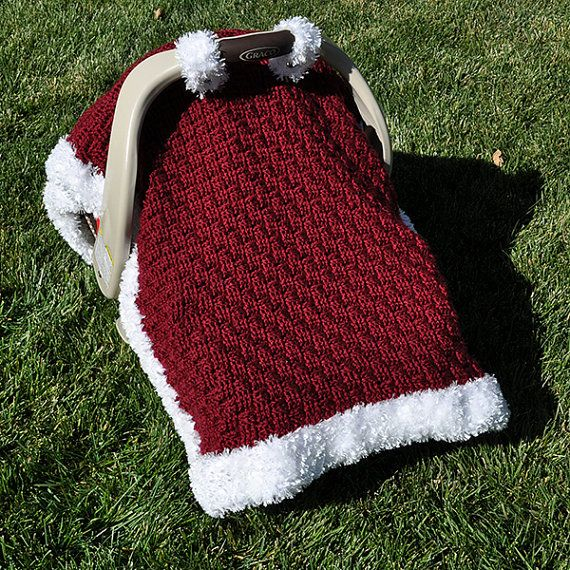 Crochet Pattern - Santa Baby Car Seat Canopy Blanket (US & UK Terms ...