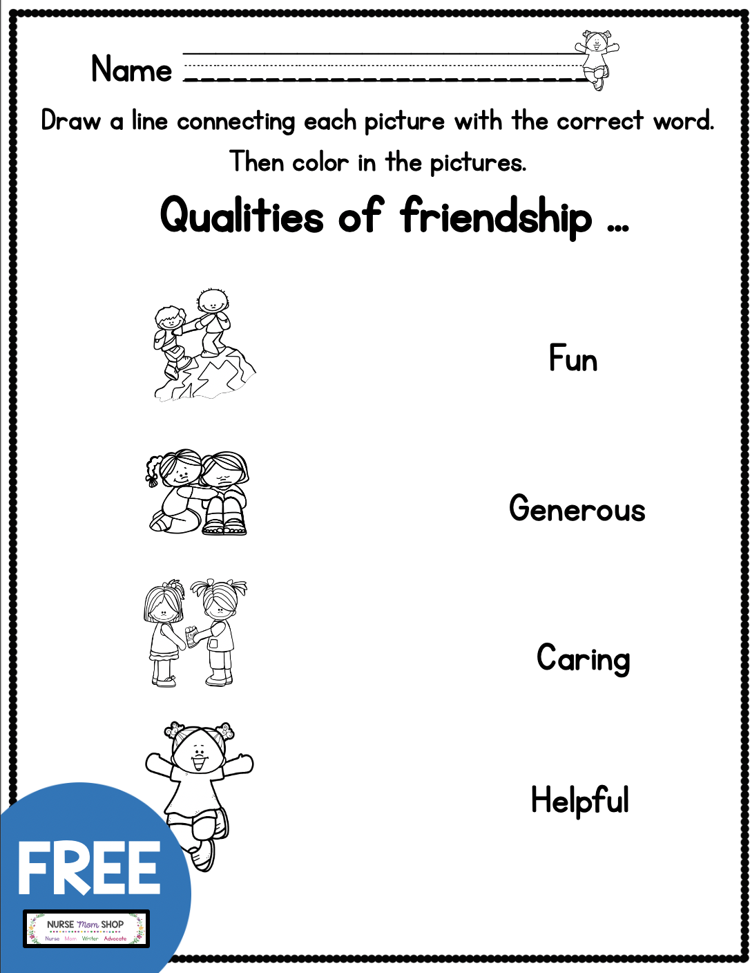 Free Friendship Tools Printables