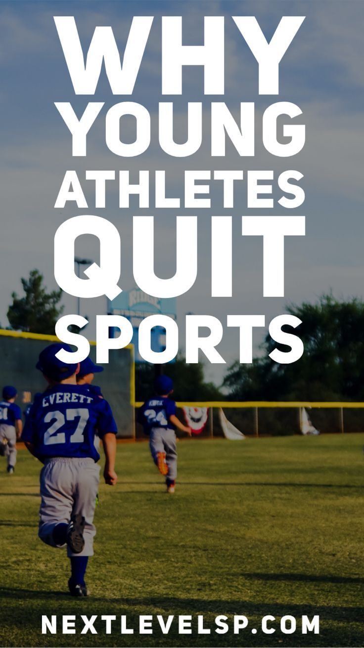 Find out the reasons that most young athletes decide to