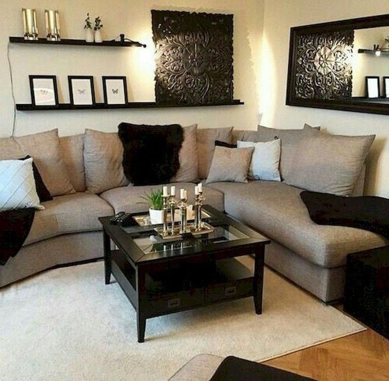 23 Charming Beige Living Room Design Ideas To Brighten Up: 70+ Exciting Floating Shelves For Living Room Decorating