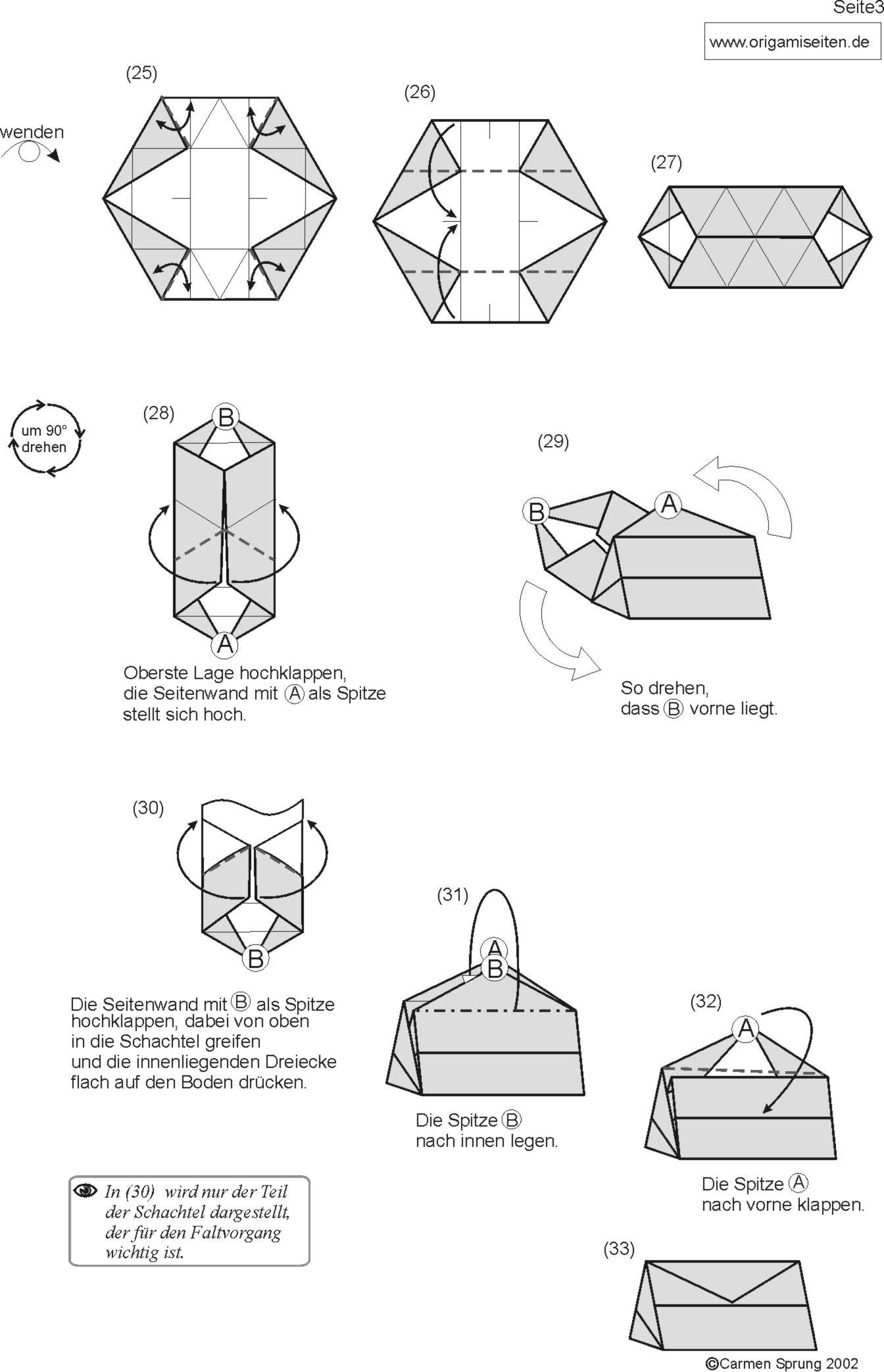 how to make origami boxes and containers