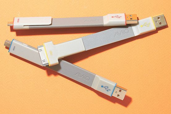 A PERFECT FIT   These flat, semirigid USB cables are just 5½ inches long and...