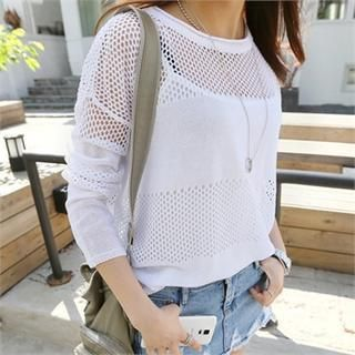 Mesh Dip-Back Top from #YesStyle <3 PIPPIN YesStyle.com