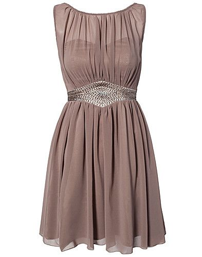 LITTLE MISTRESS / CHIFFON TRIM DRESS