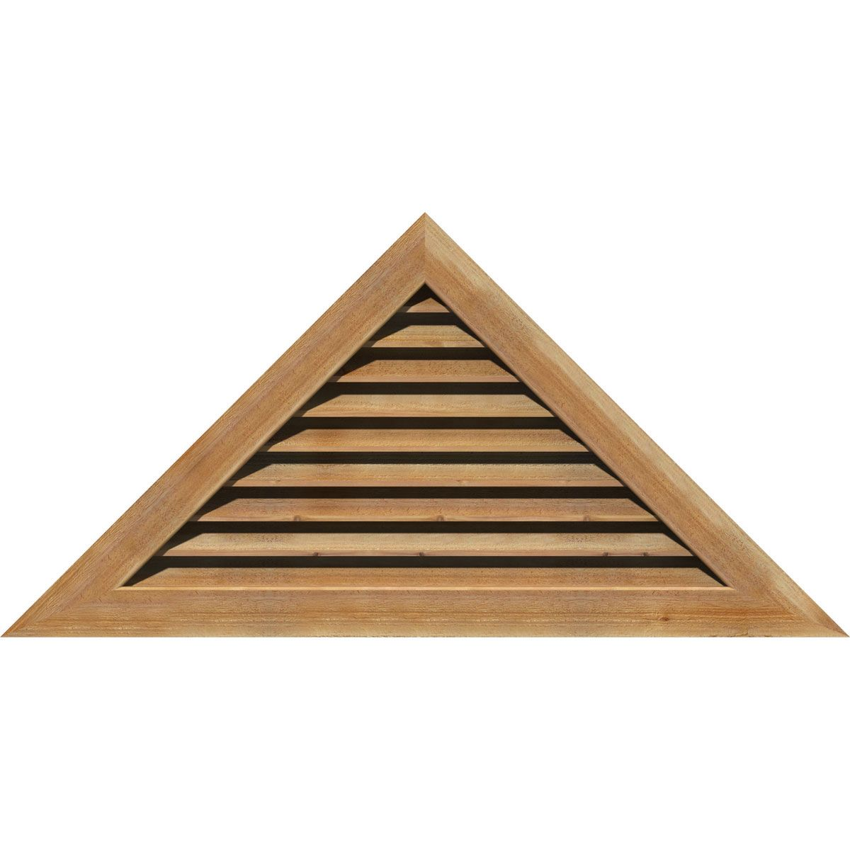 40 Inch W X 11 5 8 Inch H Triangle Gable Vent 58 1 2 Inch W X 17 Inch H Frame Size 7 12 Pitch Unfinished Functional Rough Sawn Western Red Cedar Gable Vent Gable Vents Brick