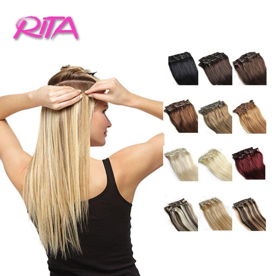 18 28 Inch Clip In Human Hair Extensions 100 120g Human Hair Clip
