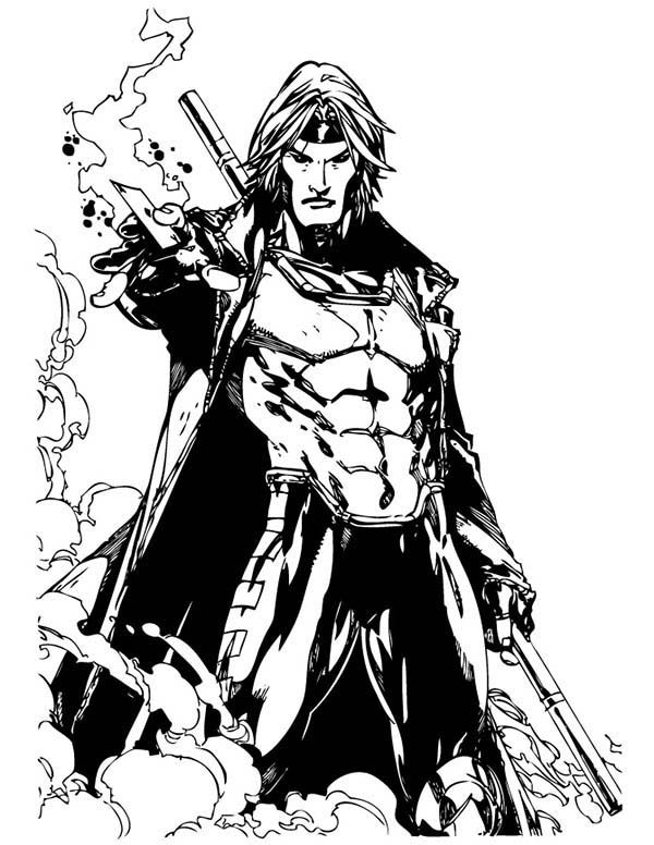 X Men Gambit Colouring Pages