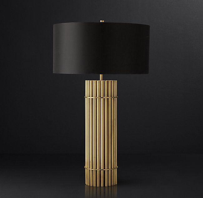 Rh Modern 39 S Herv Amp 233 Table Lamp Inspired By A 1970s French Design Our Lamp Is A Study In Mod Wood Lamp Design Art Deco Table Lamps Modern Table Lamp