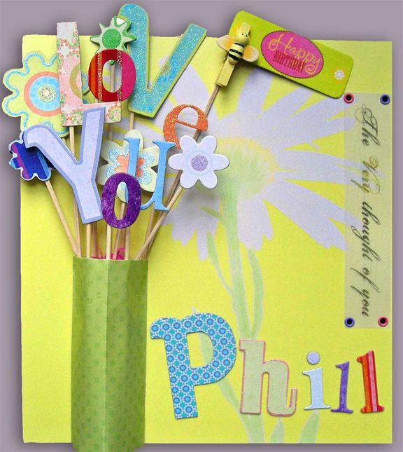 Creative Ideas For Greeting Card Making Part - 28: Cute Handmade Birthday Card Idea